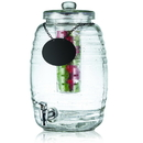 Tablecraft BDG1000 2.5 Gal Beehive Glass Bev Disp W/ Chalkboard Ice Core Infuser