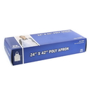 Royal 24 Inch X 42 Inch Lightweight Poly Apron 100 Per Pack - 10 Per Case