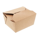 Royal FTB1N #1 Kraft Folded Takeout Box Pkd 9/50 4-3/8 X 3-1/2 X 2-1/2