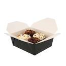 Royal 6 Inch X 4.75 Inch X 2.5 Inch #8 Black Folded Takeout Box 50 Per Pack - 6 Per Case
