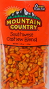 Mountain Country Snack Mix Southwest Cashew Blend 4.75 Count - 6 Per Case