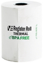 Value Essentials Register Roll 2.25 Inch 1-Ply 80 Foot Thermal White Paper 2 Rolls Per Pack - 24 Packs Per Case