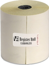 Value Essentials Register Roll 3 Inch 2-Ply 100 Foot Carbonless White Paper 3 Rolls Per Pack - 10 Packs Per Case