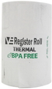 Value Essentials Register Roll 2.25 Inch 1-Ply 52 Foot Thermal White Paper - 50 Rolls Per Case