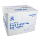 Royal 12 Ounce White Paper Food Container And Lid Combo 250 Per Pack - 1 Per Case