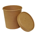 Royal 16 Ounce Kraft Paper Food Container And Lid Combo 250 Per Pack - 1 Per Case