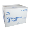 Royal PFC32WCOM 32 oz. White Paper Food Container And Lid Combo