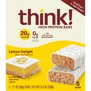 Thinkthin Lemon Delight High Protein Bar 5 Bars Per 6 Pack - 4 Per Case