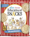 Dick And Jane President Educational Snack Crackers 1 Ounce Pouch - 120 Per Case