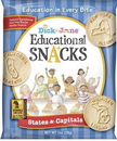 Dick And Jane States & Capitals Educational Snack Crackers 1 Ounce Pouch - 120 Per Case