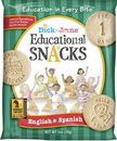 Dick And Jane English & Spanish Educational Snack Crackers 1 Ounce Pouch - 120 Per Case