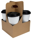 Lbp 4 Cup Kraft Jumbo Drink Carrier 200 Per Pack - 1 Per Case