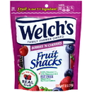 Welch'S Berries 'N Cherries Resealable Fruit Snack 8 Ounce Peg Bag - 9 Per Case