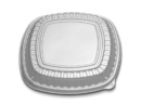 Forum 12 Clear Low Dome Lid Square Cater Tray 60 Eaches - 60 Per Case