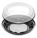 D & W Fine Pack 10 Inch Lo-Dome Display Pie Container 160 Per Pack - 1 Per Case