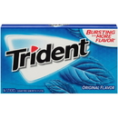 Trident Sugar Free Original Gum 14 Pieces - 12 Per Pack - 12 Packs Per Case