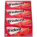 Trident Sugar Free Strawberry Twist Gum 14 Per Sticks - 12 Packs Per Box - 12 Boxes Per Case