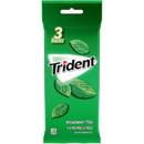 Trident Spearmint Sugar Free Gum 14 Sticks Per Pack - 3 Per Peg Bag - 20 Per Case