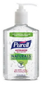 Purell Hand Sanitizer Naturals Pump Bottle 8 Fluid Ounces 12 Per Case