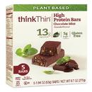 Thinkthin Plant Based Chocolate Mint Protein And Fiber Bars 5 Bars Per Box - 6 Per Case