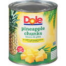 Dole 100% Juice Chunk Pineapple #10 Can - 6 Per Case