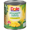 Dole Pineapple Tidbits In Juice 100 Ounce Can - 6 Per Case