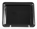 WNA A1812BL 18X12 Rect. Black Platter 20/Cs