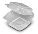 D & W Fine Pack Seeshella 5 Inch X 5 Inch Hinged Deep Container 250 Per Pack - 1 Per Case