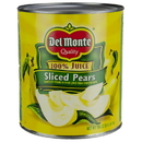 Del Monte In Juice Sliced Pear #10 Can - 6 Per Case