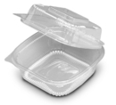 Seeshell N20 Container Hinged 6 Inch Clear 250-250 Each