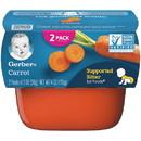 Gerber 1St Foods Carrot Multi Pack 4 Ounce Tubs - 4 Per Pack - 2 Packs Per Case