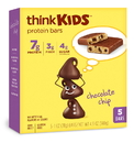 Thinkthin Thinkkids Gluten Free Chocolate Chip Cookie Bar 5 Bars Per Box - 6 Boxes - 4 Per Case