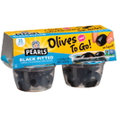 Pearls Olives To Go Black Pitted Olives Cup 4.8 Ounce - 6 Per Case