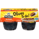 Pearls Olives To Go Black Sliced Olives Cup 5.6 Ounce - 6 Per Case