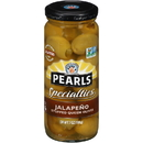 Pearls Jalapeno Stuffed Queen Olives 7 Ounce - 6 Per Case