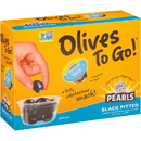 Pearls Olives To Go Black Ripe Olive Cups 1.2 Ounce 12 Per Pack - 8 Per Case