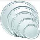 Winco APZT-13 Pizza Tray Wide Rim 13 Inches Aluminum 1-1 Each