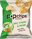 Popchips 0.8Oz X 24Ct Sour Cream & Onion Potato Popped Chip Snack