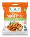 Rhythm Superfoods 713 0.6 oz Organic Ranch Carrot Sticks Case Of 8