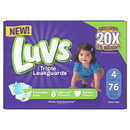 Luvs Leak Protection Diapers Size 4 1-76 Count