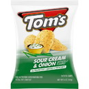 Toms 790114219 Flat Chips Sour Cream & Onion 9-5 Ounce
