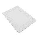 250PCS Rectangular Lace White Disposable Paper Doilies Decorative Placemat  for Cake Party Wedding and Baking