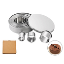 12 Pcs Round Cookie Biscuit Cutter Set Graduated Circle Pastry Cutters 304 Stainless Steel Baking Donut Ring Molds