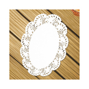 Aspire Oval Disposable Lace Doilies Cake Placemats White Table Dinner Party Decoration 140Pcs/Pack