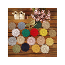 Aspire 4 Inches 10 pieces / set 18 Color Round Handmade Crochet Cotton Round Lace Doilies Placemats