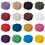 Aspire 4 Inches 10 pieces / set 18 Color Round Handmade Crochet Cotton Round Lace Doilies Placemats