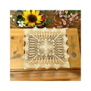 Aspire 4 pcs 6 inches + 1 pcs 16 inches Retro Square Handmade Crochet Cotton Lace Table Placemats Doilies