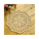 Aspire 4 pcs 12 inches Beige Crochet Cotton Lace Table Placemats Doilies Value Pack