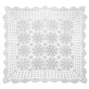 Aspire 20 Inches - 48 Inches Beige Square Handmade Crochet Cotton Lace Table Placemats Sofa Doilies