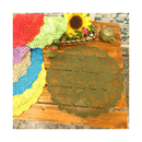 Aspire 18 inches American Rural Countryside Decorative Cotton Cover Towel Lace Table Placemats Doilies